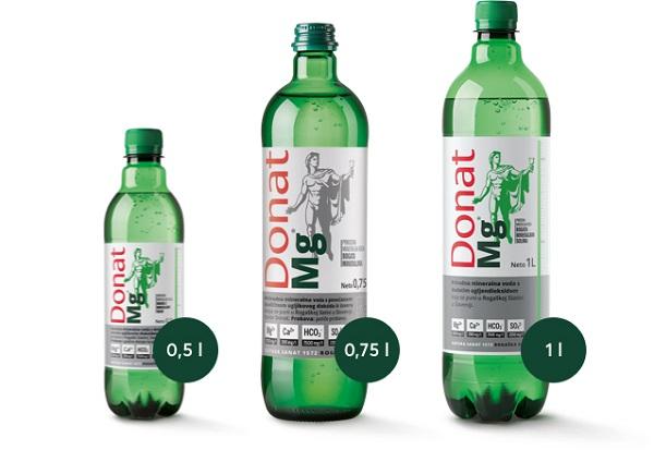 Donat Mg ist in verschiedenen Flaschengrößen erhältlich